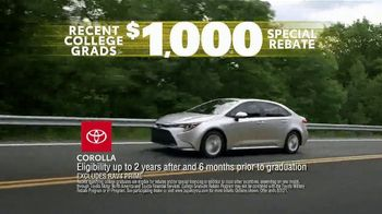Toyota Driven to Be the Best Event TV Spot, 'Best Deals: College Grad Rebate' [T2] - Thumbnail 6