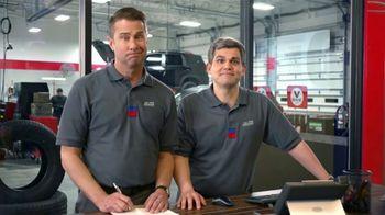 Tire Kingdom TV Spot, 'Two Advisors: Buy Two, Get Two Free Plus $100 Rebate'