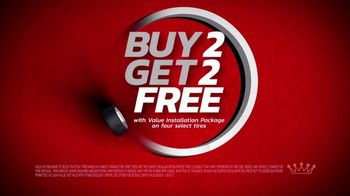 Tire Kingdom TV Spot, 'Two Advisors: Buy Two, Get Two Free Plus $100 Rebate' - Thumbnail 5