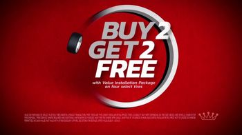 Tire Kingdom TV Spot, 'Two Advisors: Buy Two, Get Two Free Plus $100 Rebate' - Thumbnail 6