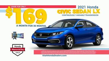 Honda Memorial Day Sales Event TV Spot, 'Unlike the Competition' [T2] - Thumbnail 6