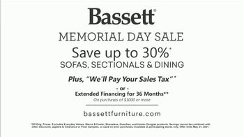 Bassett Memorial Day Sale TV Spot, 'Not an Ordinary Table: 30%' - Thumbnail 9