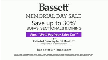 Bassett Memorial Day Sale TV Spot, 'Just a Sofa: Save 30%: Sales Tax' - Thumbnail 10