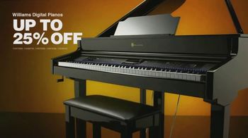Guitar Center Memorial Day Event TV Spot, 'Up to 25% Off Williams Digital Pianos' - Thumbnail 5