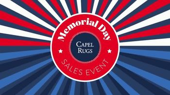 Capel Rugs Memorial Day Sales Event TV Spot, 'Up to 60% Off' - Thumbnail 1