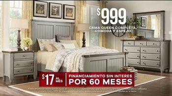 Rooms to Go Venta de Memorial Day TV Spot, 'Cama Queen' [Spanish] - Thumbnail 6