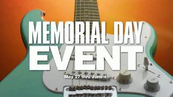 Guitar Center Memorial Day Event TV Spot, 'Save Up to 40%, Free Shipping, 0% Financing'