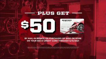 Big O Tires TV Spot, 'Instant Savings, $50 Rebate and $14.95 Oil Change'