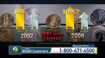 Lear Capital TV Spot, 'Debt Matters Report: $5000 Bonus Gold or Silver'