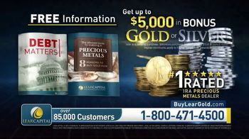 Lear Capital TV Spot, 'Debt Matters Report: $5000 Bonus Gold or Silver' - Thumbnail 9