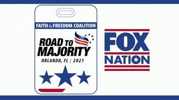 FOX Nation TV Spot, 'Faith & Freedom Coalition: Road to Majority Conference' - 56 commercial airings