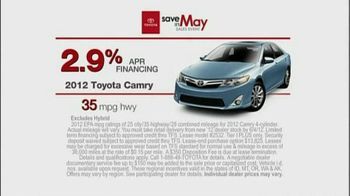 Toyota Save in May Sales Event TV Spot, '2012 Camry' - Thumbnail 6