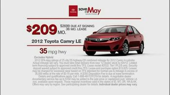 Toyota Save in May Sales Event TV Spot, '2012 Camry' - Thumbnail 7