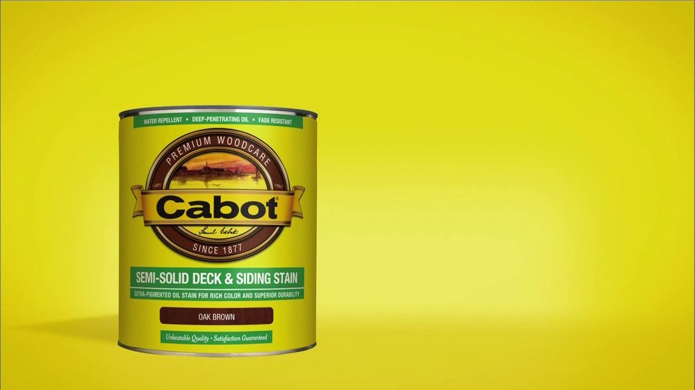 Cabot Semi-Solid Deck & Siding Stain TV Spot