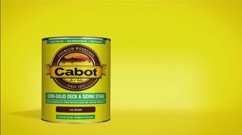 Cabot Semi-Solid Deck & Siding Stain TV Spot - 111 commercial airings