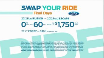 Ford Swap Your Ride TV Spot, 'Final Days' - Thumbnail 5