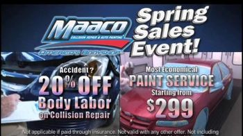 Maaco Spring Sales EventT V Spot, 'Paint Service and Collision Repair' - Thumbnail 4