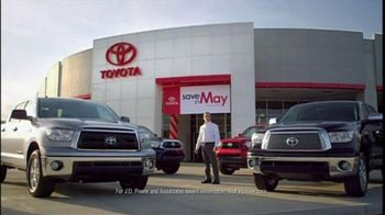 Toyota Save in May Sales Event TV Spot, '2012 Tundra' - Thumbnail 2