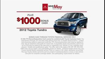 Toyota Save in May Sales Event TV Spot, '2012 Tundra' - Thumbnail 3