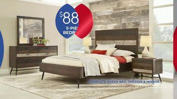 Rooms to Go Anniversary Sale TV Spot, 'Five-Piece Bedroom Set: $888' Song by Junior Senior - Thumbnail 4