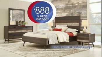 Rooms to Go Anniversary Sale TV Spot, 'Five-Piece Bedroom Set: $888' Song by Junior Senior - Thumbnail 5