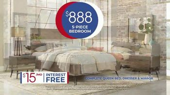 Rooms to Go Anniversary Sale TV Spot, 'Five-Piece Bedroom Set: $888' Song by Junior Senior - Thumbnail 6