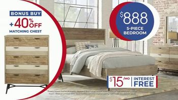 Rooms to Go Anniversary Sale TV Spot, 'Five-Piece Bedroom Set: $888' Song by Junior Senior - Thumbnail 8