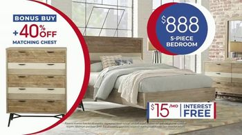 Rooms to Go Anniversary Sale TV Spot, 'Five-Piece Bedroom Set: $888' Song by Junior Senior - Thumbnail 9