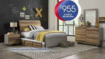 Rooms to Go Kids Anniversary Sale TV Spot, 'Five-Piece Bedroom Set: $995' Song by Junior Senior - Thumbnail 4