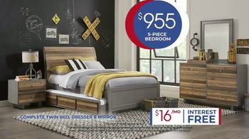 Rooms to Go Kids Anniversary Sale TV Spot, 'Five-Piece Bedroom Set: $995' Song by Junior Senior - Thumbnail 6