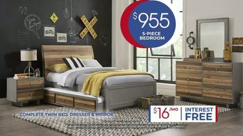 Rooms to Go Kids Anniversary Sale TV Spot, 'Five-Piece Bedroom Set: $995' Song by Junior Senior - Thumbnail 7
