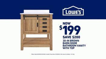 Lowe's Bath Savings Event TV Spot, 'Sanctuary: Vanity' - Thumbnail 10