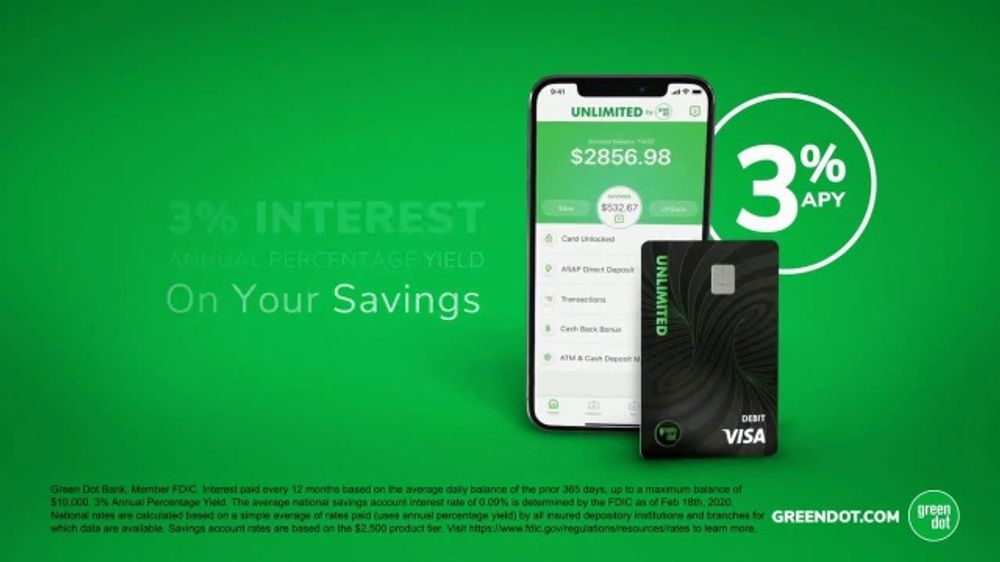Green Dot Cards Unlimited TV Commercial, 'Incredible 3 Percent'