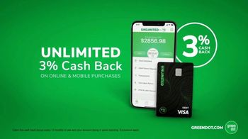 Green Dot Cards Unlimited TV Spot, 'Incredible 3 Percent' - Thumbnail 5