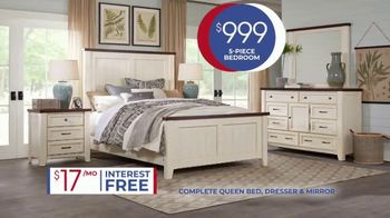 Rooms to Go Anniversary Sale TV Spot, 'Five Piece Bedroom: $999' Song by Junior Senior - Thumbnail 5