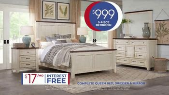 Rooms to Go Anniversary Sale TV Spot, 'Five Piece Bedroom: $999' Song by Junior Senior - Thumbnail 6