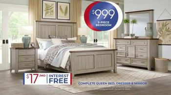 Rooms to Go Anniversary Sale TV Spot, 'Five Piece Bedroom: $999' Song by Junior Senior - Thumbnail 7