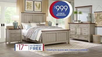 Rooms to Go Anniversary Sale TV Spot, 'Five Piece Bedroom: $999' Song by Junior Senior - Thumbnail 8