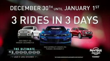 Hard Rock Hotels & Casino Sacramento Ultimate Million Dollar Cash and Cars Giveaway TV Spot, 'Everyone Wins'