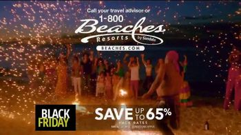 Beaches Black Friday Sale TV Spot, '$1,000 Booking Credit and Free Night' Song by Ellie Wyatt - Thumbnail 9