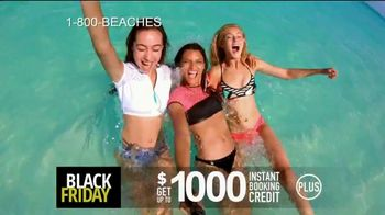Beaches Black Friday Sale TV Spot, '$1,000 Booking Credit and Free Night' Song by Ellie Wyatt