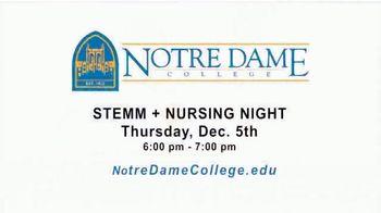 Notre Dame College TV Spot, 'STEMM + Nursing Night' - Thumbnail 7