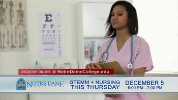 Notre Dame College TV Spot, 'STEMM + Nursing Night' - Thumbnail 4