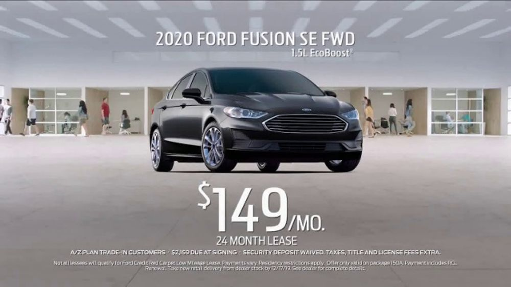 Lease Ford Fusion >> 2020 Ford Fusion Tv Commercial Current A Z Plan Lease A Fusion T2 Video