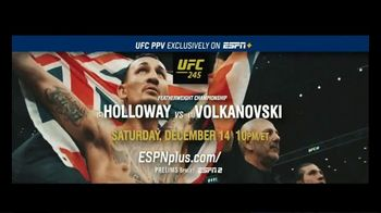 ESPN+ TV UFC 245 Spot, 'Holloway vs Volkanovski' - 15 commercial airings