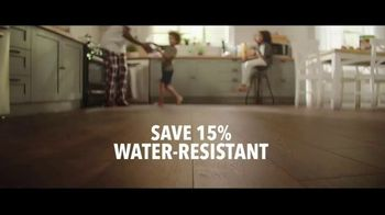 Lumber Liquidators TV Spot, 'Styles & Features: Waterproof Flooring' Song by The Electric Banana - Thumbnail 3