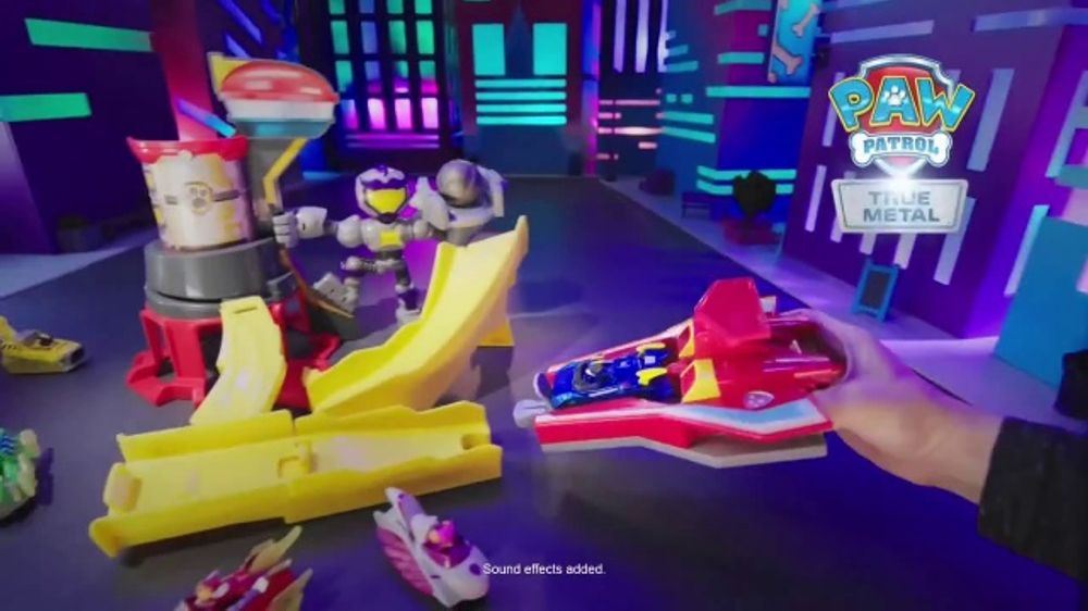 PAW Patrol True Metal Mighty Meteor Track Set TV Commercial, 'Ride the Lightning'