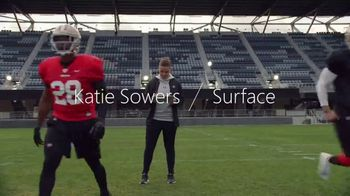 Microsoft Surface Pro 7 TV Spot, 'Your Dream Is Coming: $200 Off' Featuring Katie Sowers - Thumbnail 3