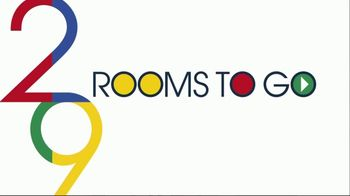 Rooms to Go Anniversary Sale TV Spot, 'Five-Piece Bedroom Set: $799' Song by Junior Senior - Thumbnail 1