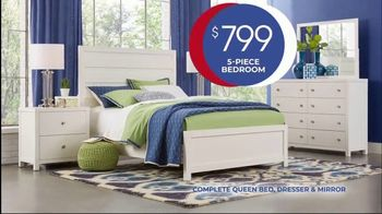 Rooms to Go Anniversary Sale TV Spot, 'Five-Piece Bedroom Set: $799' Song by Junior Senior - Thumbnail 4